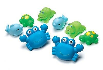 Playgro - Bathtime Squirtees Boy (8 piece) - BRAND NEW