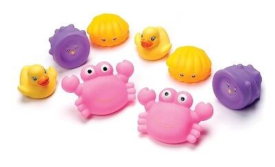 Playgro - Bathtime Squirtees Girl (8 piece) - BRAND NEW