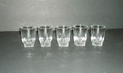 Federal Glass Park Avenue Clear Shot Glasses Five Shot  Glasses