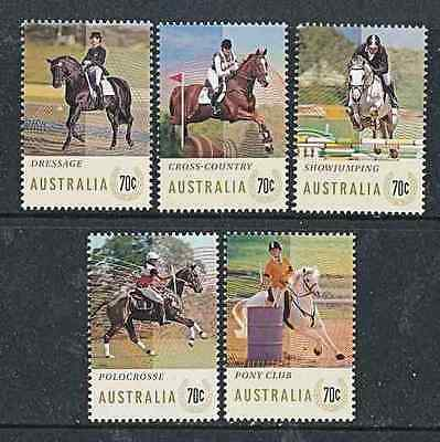 AUSTRALIA  2014   HORSES   EVENTS    SET of 5   MNH