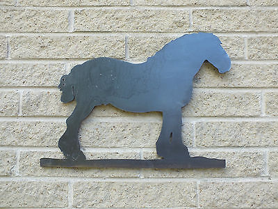 for Weathervanes or Features in Gates Trotting Horse Silhouette in Mild Steel