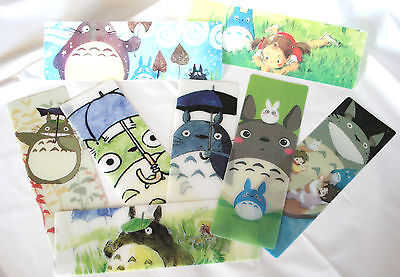1 x Totoro Plastic Translucent Bookmark, Studio Ghibli, Japanese Animation, Gift