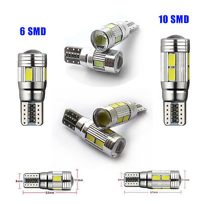 T10 501 194 W5W Led 6 Or 10 Smd Canbus Error Free Car Side Light Wedge Bulbs