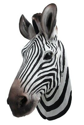 Large Botswana Zebra Hanging Wall Bust Sculpture Figurine Hunter Trophy Statue