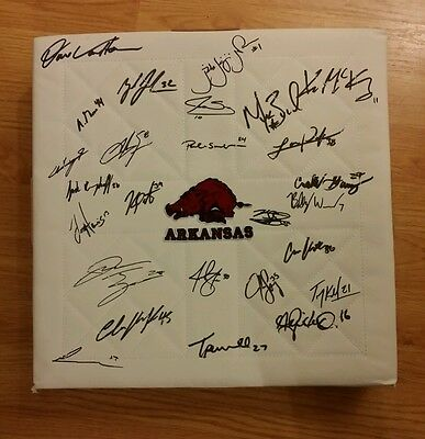 2015 arkansas razorbacks team signed base andrew bentintendi w/coa
