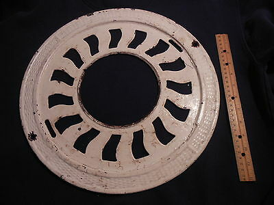 Antique Cast Iron Ornate Round Victorian Floors Stove Pipe Register Grate Vent 1
