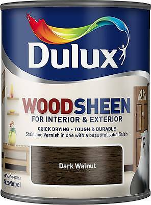 Dulux Woodsheen - Dark Walnut - 750ml - Interior & Exterior - Woodstain