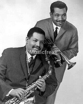 8x10 Photo of brothers Julian Cannonball Adderley sax and Nat Adderley cornet