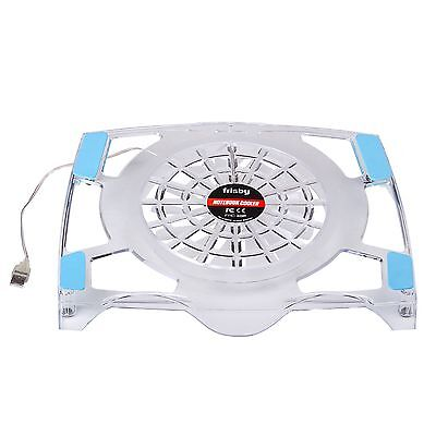 Frisby FNC-30P USB Blue LED Light Weight Fan Laptop Notebook Quiet Cooling Cooler Pad 10 to 15