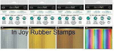 ThermOWeb iCraft Deco Foil 20 Transfer Sheet VALUE PACK Rose Gold Silver Rainbow