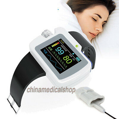 New CE Passed Respiration Sleep Monitor SPO2 Pulse Rate Analysis LCD backlight