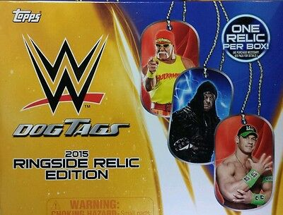 WWE Dog Tags 2015 RINGSIDE RELIC EDITION single / choose UPDATED January  2016