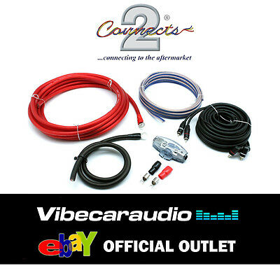 Connects2 Pro 0 Zero 3600 Watts 0AWG Gauge Power Ground RCA Amplifier Wiring Kit