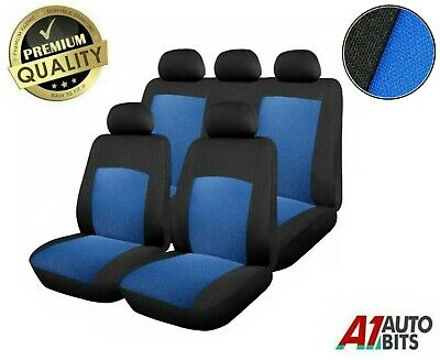 Sporty To Fit Peugeot 106 205 206 207 Car Seat Covers In Black & Blue