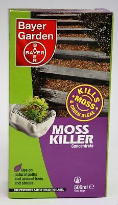 Bayer Garden Moss Killer Concentrate 500ml For Paths, Trees, Fences & Sheds