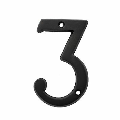 3 Inch Dark Oil Rubbed #3 House Numbers Home Address Plaque Number Sign