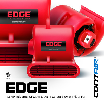 Contair® EDGE Air Mover Carpet Dryer Blower Floor Fan High CFM Red Color