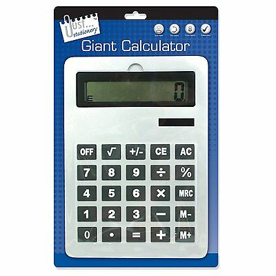 Tallon Just Stationary Large A4 Dual Power Big Button Giant Calculator - 1696