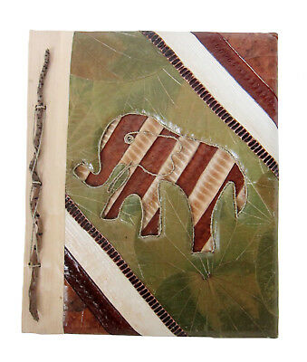 Large Handmade photo album made using natural lief /& bark ABSTRACT DESIGN  new