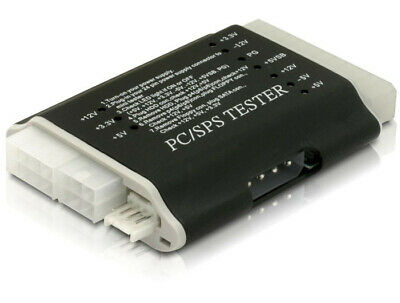 Delock Power supply tester II + 12V,-12V,+5V,-5V, +3,3V  5V SB 12 PG ATX BTX ITX