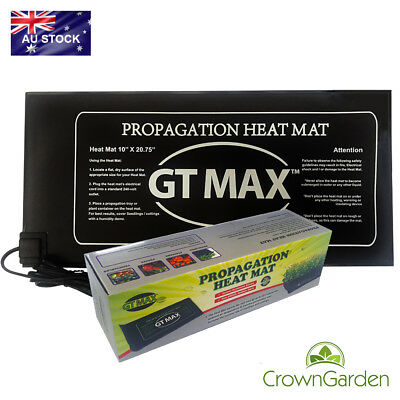 GT PROPAGATION SEEDLING HEAT MAT 525 x 250mm CLONING & FASTER ROOTING MELB BASE