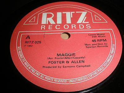 "Foster & Allen 7"" Vinyl Maggie / The Willow Ritz 025 1982 Ex """