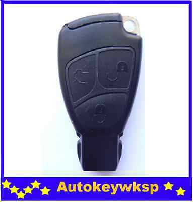 3 Buttons Smart Remote Completed Key Case  For Mercedes Benz S E C Class