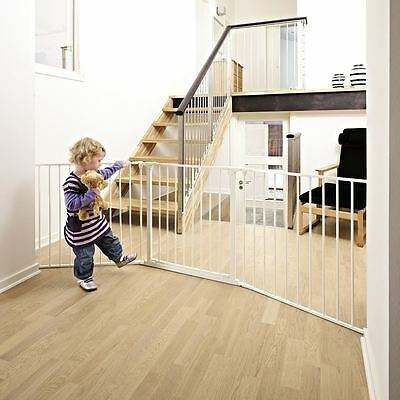 BabyDan Baby and Child Configure Safety Gate - Large White