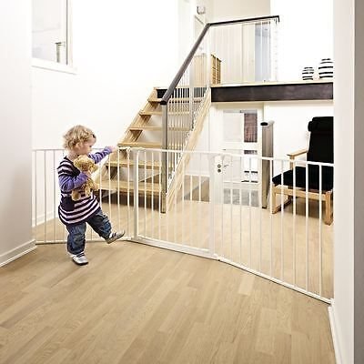 BabyDan Configure Baby Gate Large White Multi Panel Extra Wide Safety Gate