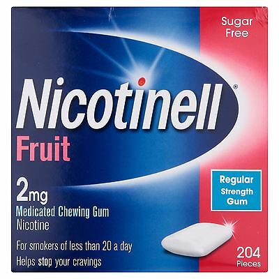 3 Packs of Nicotinell Fruit 2mg Medicated Chewing Gum | 612 Piece total