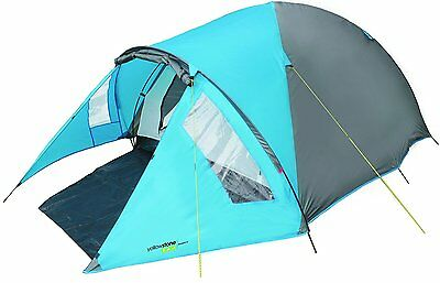 Yellowstone Ascent 2 Man Dome Tent With Porch 3 Season Easy Pitch 3kg Waterproof