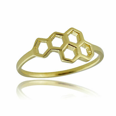 925 Sterling Silver Band Sizes 6-10 Science NEW DNA Molecule Double Helix Ring