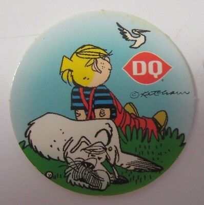 Vintage Dennis the Menace Dairy Queen Milk Cap POG Advertising BONUS Treat Token