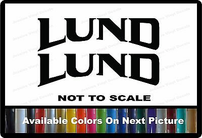 "2 Lund Boat Decals Left & Right 22"" x 6"" Custom Vinyl Decals"