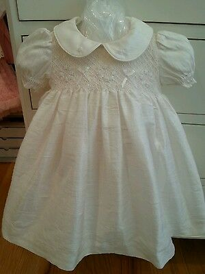Antonella Kids Silk Christening Dress MSRP  $175 Size 6-9 months