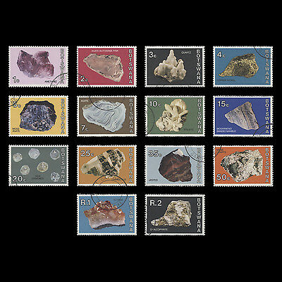 Botswana 1974 (Used) Minerals Definitives. SG322-335