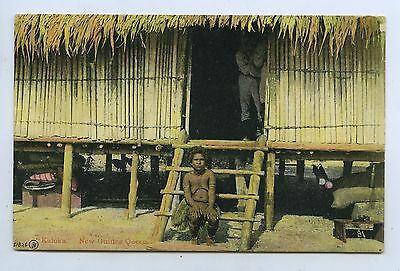 C1910 PT NPU SCARCE ETHNIC POSTCARD 'KALOKA' NEW GUINEA QUEEN q87