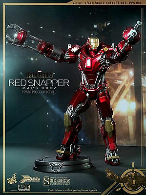 Sideshow Hot Toys Iron Man 3 Power Pose Mark Xxxv Red Snapper 1:6 Aktion Figur