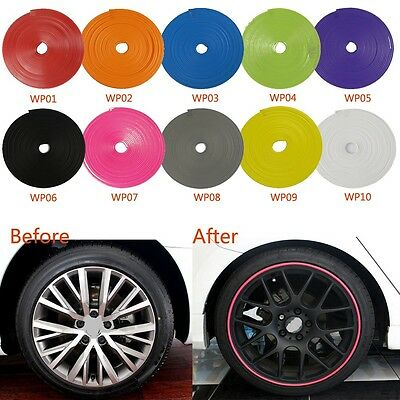Car Tuning Trend Vehicle Wheel Rim Protector Tire Guard Line Rubber Moulding Hot