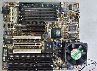 Fic Va-503+ Motherboard (With Amd-K6(Tm)-2 Cpu & Pc-100 Ram)