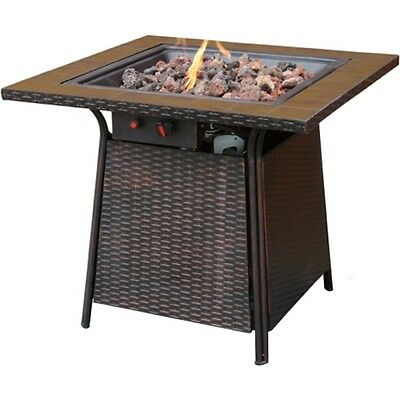 NEW Blue Rhino GAD1001B Propane Tile Gas Fire Pit Table Fireplace Firebowl