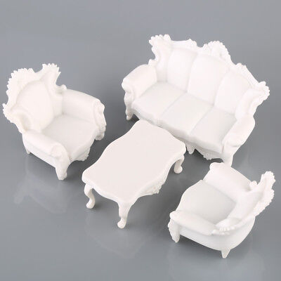 Antique Sofa Settee Couch White Model Set 1:25 G Dollhouse Living Room Furniture