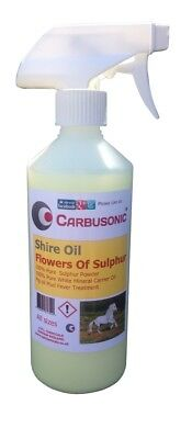 Shire Oil - Pig Oil With Sulphur  500 ml Trigger Spray Pure Mineral Oil Carrier