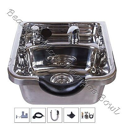 Stainless Steel Shampoo Bowl Shampoo Sink Barber Beauty Salon Polished TLC-1168