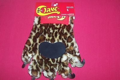 New The Claw Animal Spotted Jaguar Paw Fur Mitt Glove Costume Prop HALLOWEEN