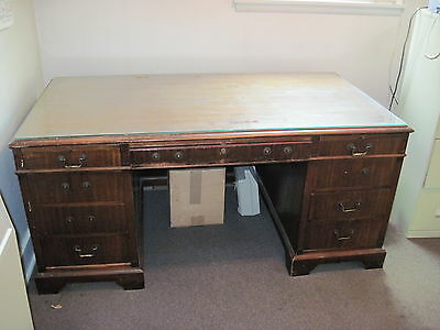 Executive Desk  With Glass Top Jasper Wood Product Company