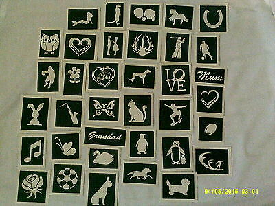 Wholesale Mixed stencils for etching on glass for party entertainers  100 - 500