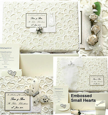 LARGE E Small Hearts PERSONALISED Wedding Keepsake Box 5 Motif/12 Colour/Extras