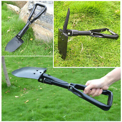Folding Shovel Survival Multi Tools Pouch Outdoor Garden Camping Hiking Spade