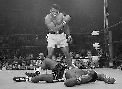 Muhammad Ali KO Home Decor Canvas Print photo vintage old choose your size.
